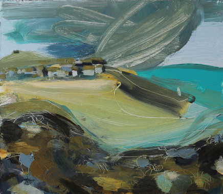 Tide Out St Ives Clouds Approaching, 2017