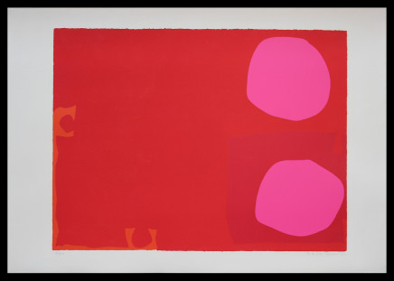 Patrick Heron CBE, Two Pink Discs in Dark Reds: April 1970, 1970
