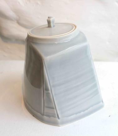 Carina Ciscato, Pale Grey/Blue Lidded Pot, 2018