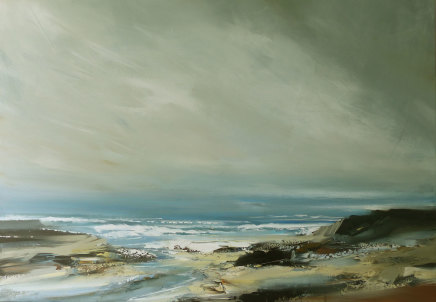 Jenny Hirst Inlet, 2020 Acrylic on canvas 100cm x 70cm