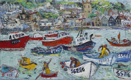 Oily St Ives Harbour