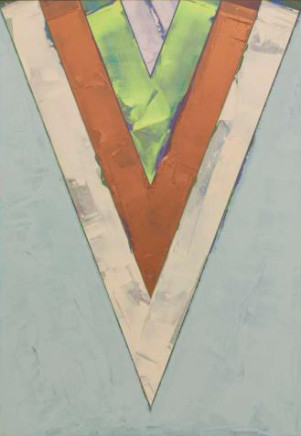 Songs: Indian Love Call, 1984  Kenneth Noland  Acrylic on canvas  88 x 61 7/8 inches  223.5 x 157.2 cm
