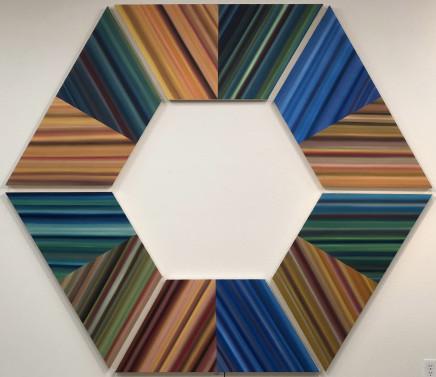 Trapezoid Series V, 2018  Louis Vega Treviño  Oil on canvas  84 x 96 inches  213.4 x 243.8 cm