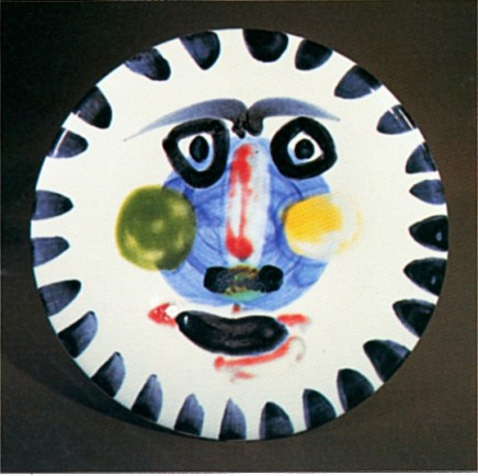AR 495 - Visage no. 202 (Face No. 202), 1963  Pablo Picasso  Ceramic  10 inches (25.4 cm)  Edition 338/500