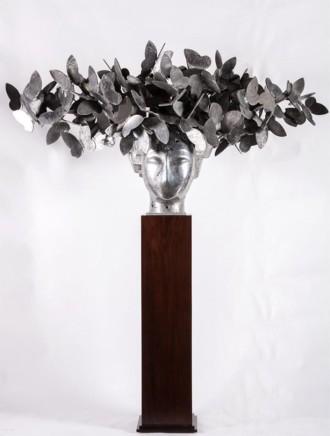 Mariposas VII, 2011  Manolo Valdés  Silver aluminum  33.46 x 68.9 x 31.89 inches (85 x 175 x 81 cm)  Edition 1/9