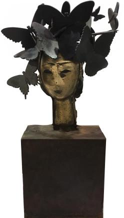 Mariposas  Manolo Valdés  Bronze  24 x 12 1/2 x 6 inches  61 x 31.8 x 15.2 cm