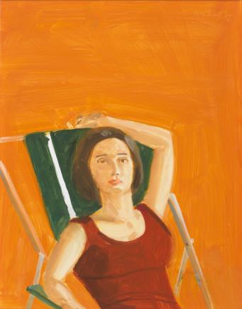 Vivien with Orange, 2007  Alex Katz  Oil on board  16 x 12 inches (40.6 x 30.5 cm)
