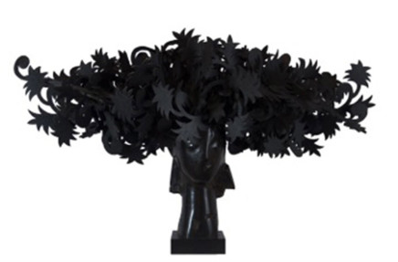 Ada Cabeza con Flores  Manolo Valdés  Bronze  29.13 x 47.64 x 25.98 inches (74 x 121 x 66 cm)