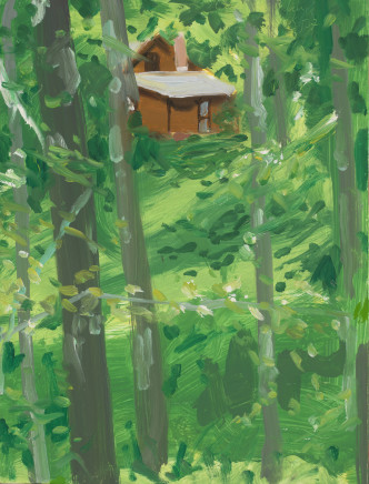 Brown House 1, 2007  Alex Katz  Oil on board  12 x 9 inches (30.5 x 22.9 cm)