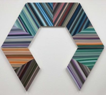 Trapezoid Series III, 2016  Louis Vega Treviño  Oil on canvas  70 x 70 inches  177.8 x 177.8 cm