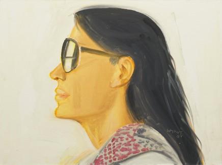 Carmen, 2008  Alex Katz  Oil on board  12 x 16 inches (30.5 x 40.6 cm)