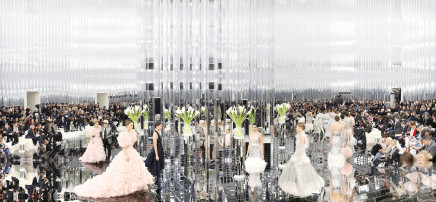 The Palace of Mirrors, Chanel Haute Couture, Spring/Summer, 2017  Simon Procter  C-print  39 3/8 x 84 5/8 inches  100 x 215 cm  Edition of 10, plus 2 AP