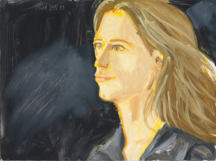 Stephanie, 2007  Alex Katz  Oil on board  12 x 16 inches  30.5 x 40.6 cm