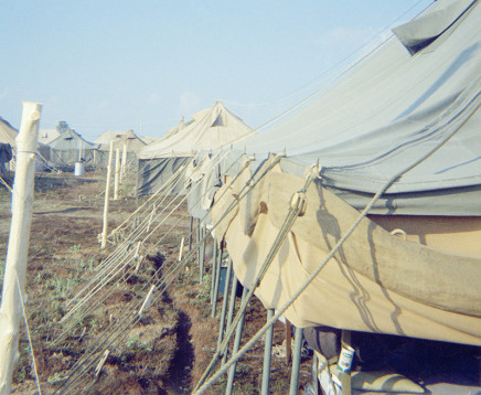 Sunil Gupta, Tents, Canadian Forces Base Valcartier, circa 1971