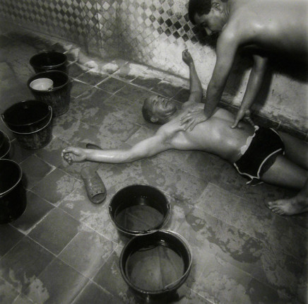 Ruth Kaplan, Hamam, Fez, Morocco [man on ground with arms outstreched], 2001
