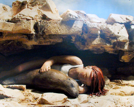 Sarah Anne Johnson, Snuggling with a Sea Lion, 2005