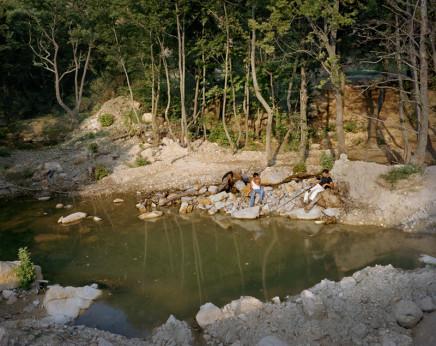 Jim Goldberg, Russian Men Fishing, Greece, circa 2003