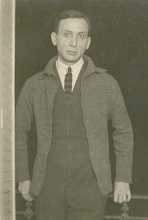 André Kertész, André Kertész standing in doorway #3, circa 1927