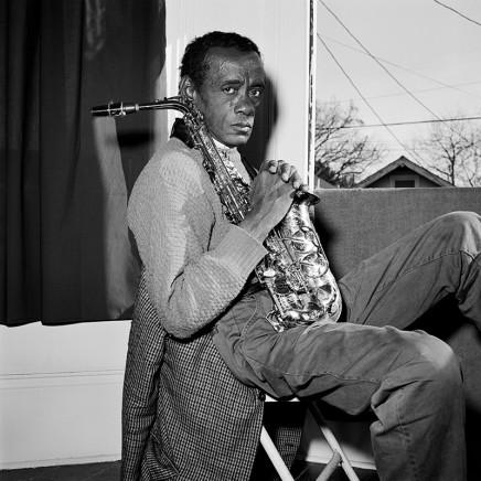 Rosalind Fox Solomon, New Orleans, Louisiana [His saxophone (Marion Brown)], 1993