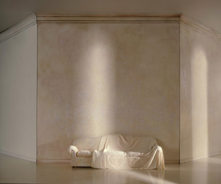 Charles Matton, A White Draped Couch in a White Space, 1987