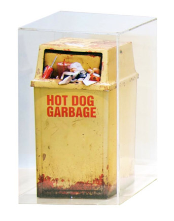Anthony Koutras, Hot Dog Garbage Sculpture, 2010