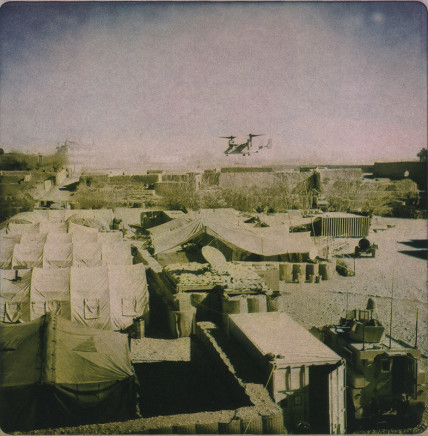 Rita Leistner, Helicopter above Musa Qala base, 2011
