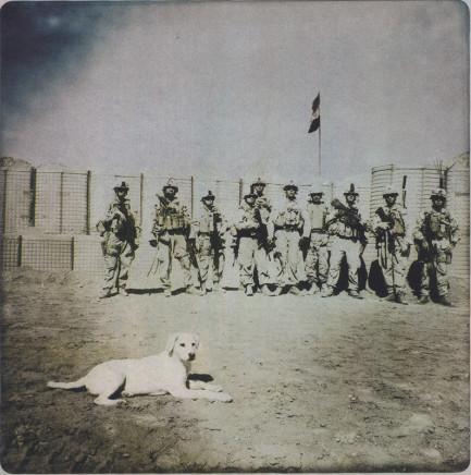 Rita Leistner, Marines with dog, 2011