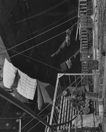 André Kertész, Looking down on fire escapes and clotheslines, 1943