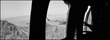 Larry Towell, Kandahar, Landscape from Black Hawk Helicopter with Mounted Gun, 2011