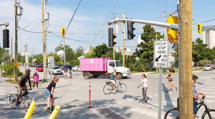 Robert Burley, Corner of Leslie Street and Unwin Avenue as see from the park entrance, Tommy Thompson Park, Toronto, 2020