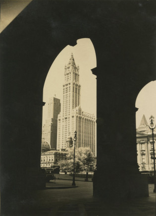 Alexander Artway, Woolworth Building through Arch, June 2, 1935