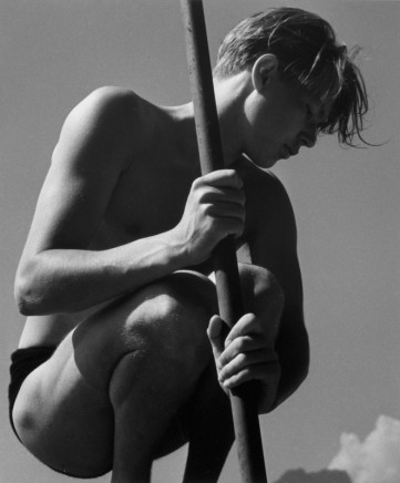 Herbert List, Ritti with Fishing Rod, Vietanau at Lake Lucerne, Switzerland, 1936