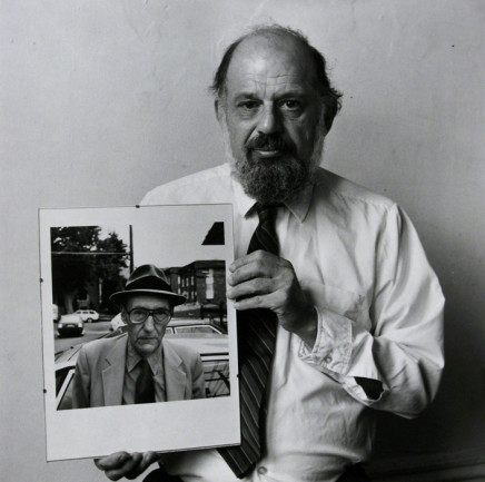 Robert Giard, Allen Ginsberg with his own portrait of Burroughs, 1986