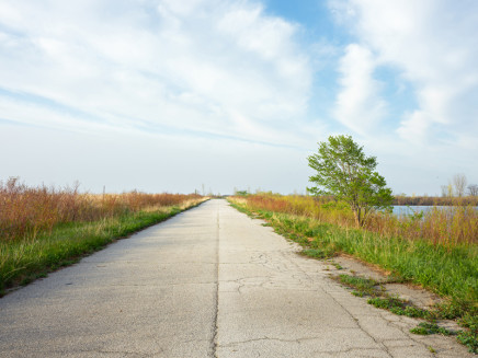 Robert Burley, The Unassumed Road on the Endikement, Tommy Thompson Park, 2019