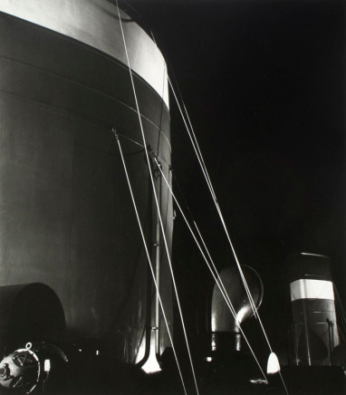Herbert List, Nocturnal Mooring Marine Structures, Hamburg, Germany, 1930