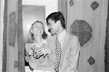 Sunil Gupta, Solveig with Sunil, 3425 Stanley, circa 1974