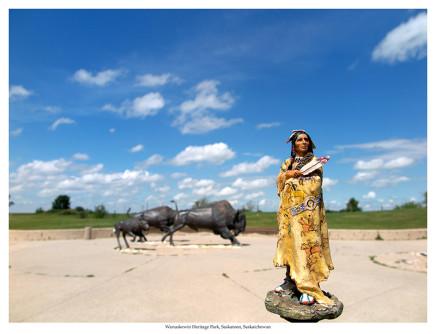 Jeff Thomas, Buffalo Robe, Wanuskewin Heritage Park, Saskatoon, Saskatchewan, 2016