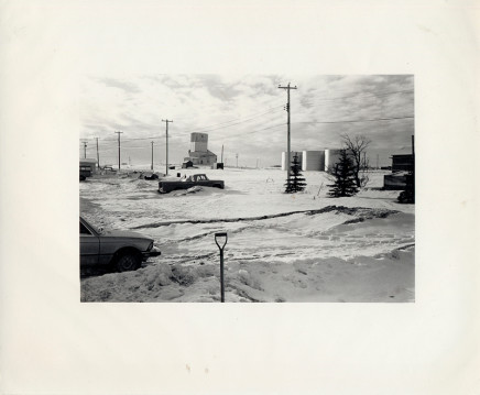 Douglas Clark, Untitled [snow/shovel/farm], circa 1980