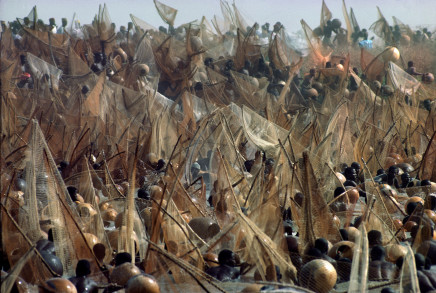 Bruno Barbey, Fishing festival on the Niger River, Sokoto, Nigeria, 1977
