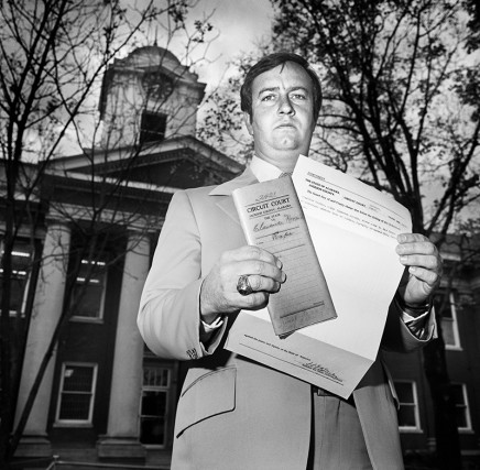 "Rosalind Fox Solomon, Scottsboro, Alabama [The County Court Clerk (The State vs. Clarence Norris's (a Scottsboro ""boy"") for rape)], 1976"