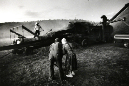 Larry Towell, Threshing Oats, Ojo de la Yegua Colony, Chihuahua, Mexico, 1992