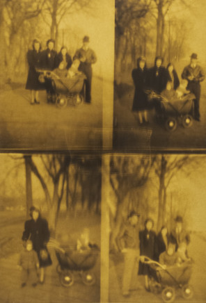 Phil Bergerson, Untitled (Four family snapshots), Toronto, Ontario, 1970