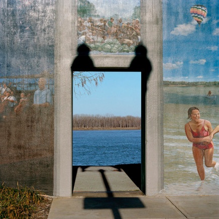 Phil Bergerson, Untitled, Paducah, Kentucky [mural around levee archway], 2004