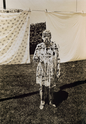Phil Bergerson, Untitled (Scratched mother with laundry ), Toronto, Ontario, 1970