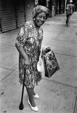 Dawoud Bey, A Woman at 7th Avenue and 138th Street, 1976/77
