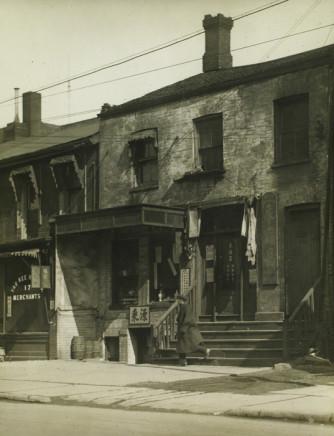 Charles Devenish Woodley, Chinatown, Elizabeth St. Toronto, 1938