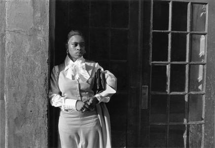 Dawoud Bey, A Woman Waiting in the Doorway, 1976