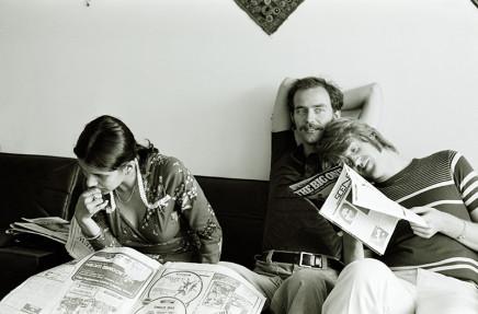 Sunil Gupta, Shalini, Rudi, John at 3425 Stanley, circa 1975