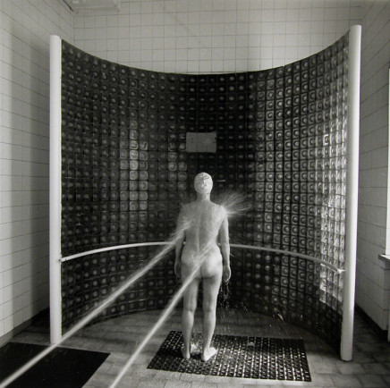 Ruth Kaplan, Shower, Duzniki - Zdroj, Poland [woman with two water jets], 1994