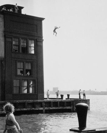 Ruth Orkin, Boy Jumping into Hudson River, NYC, 1948